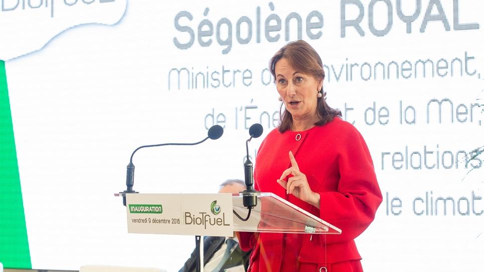 Ségolène Royal, ministre de l'Environnement, à Mardyck près de Dunkerque le 9 décembre 2016