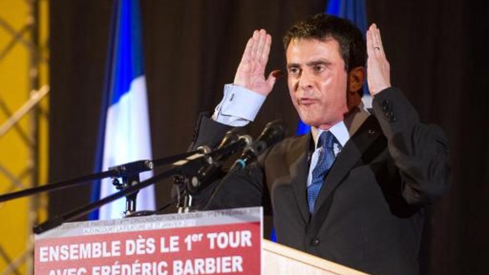 Le Premier ministre Manuel Valls à Audincourt le 27 janvier 2015