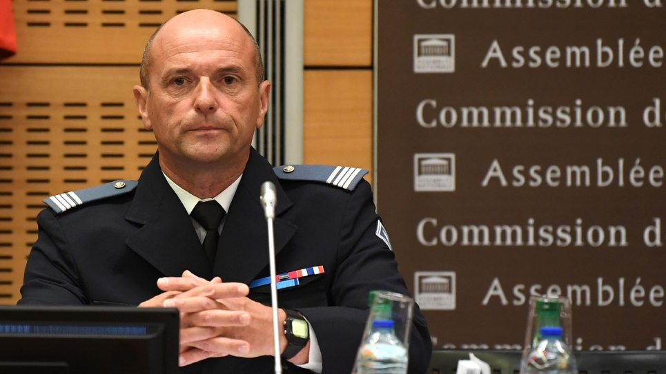 Pierre Leleu,le commandant de l'unité de CRS déployée le 1er mai place de la Contrescarpe, auditionné devant la commission des Lois du Sénat le 27 juillet 2018
