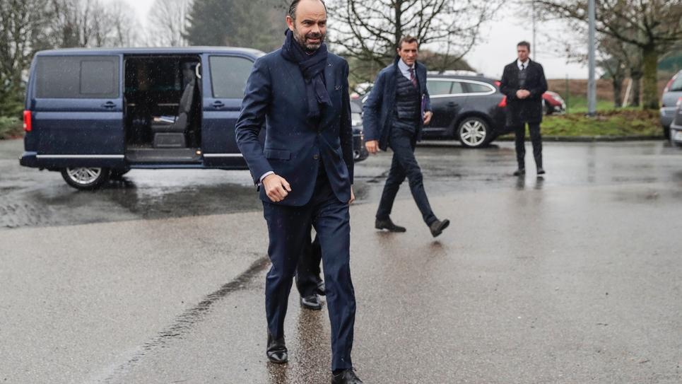 Le Premier ministre Edouard Philippe à Saint-Yrieix-la-Perche le 21 décembre 2018