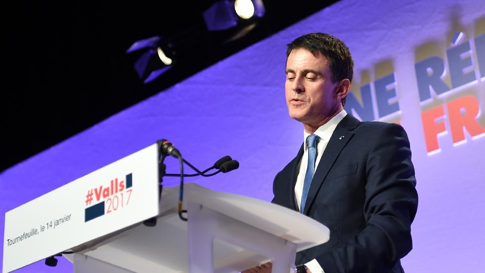 Manuel Valls, le 14 janvier 2017 à Tournefeuille près de Toulouse