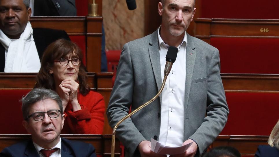 Le député LFI Loïc Prud'homme, le 5 mars 2019 à l'Assemblée nationale à Paris