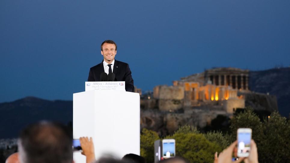 Le président français Emmanuel Macron, le 8 septembre 2017 à Athènes