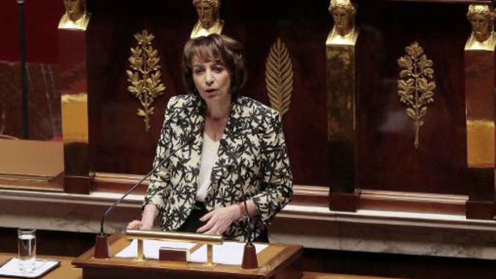 La ministre de la Santé, Marisol Touraine, le 10 mars 2015 à l'Assemblée nationale, à Paris