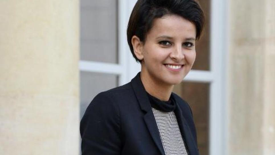 La ministre de l'Education nationale Najat Vallaud-Belkacem, le 29 octobre 2014 à l'Elysée