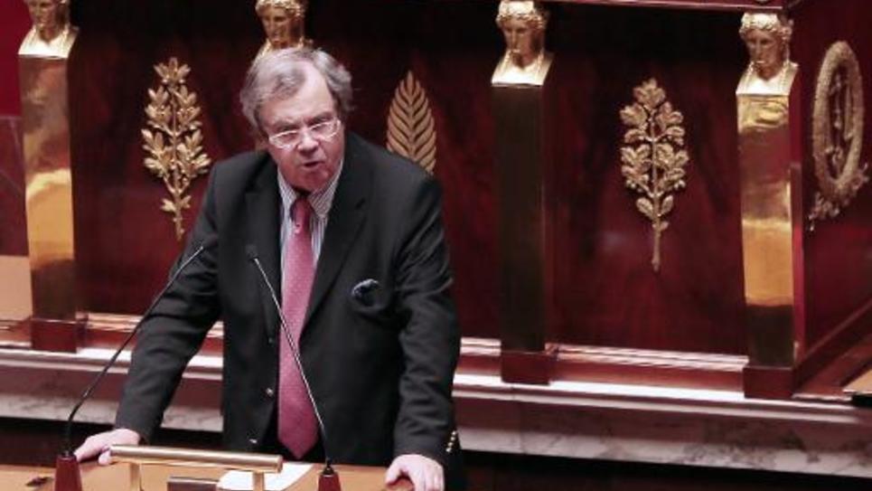 Le député du Parti radical de gauche Alain Tourret, le 12 février 2013 à l'Assemblée nationale à Paris