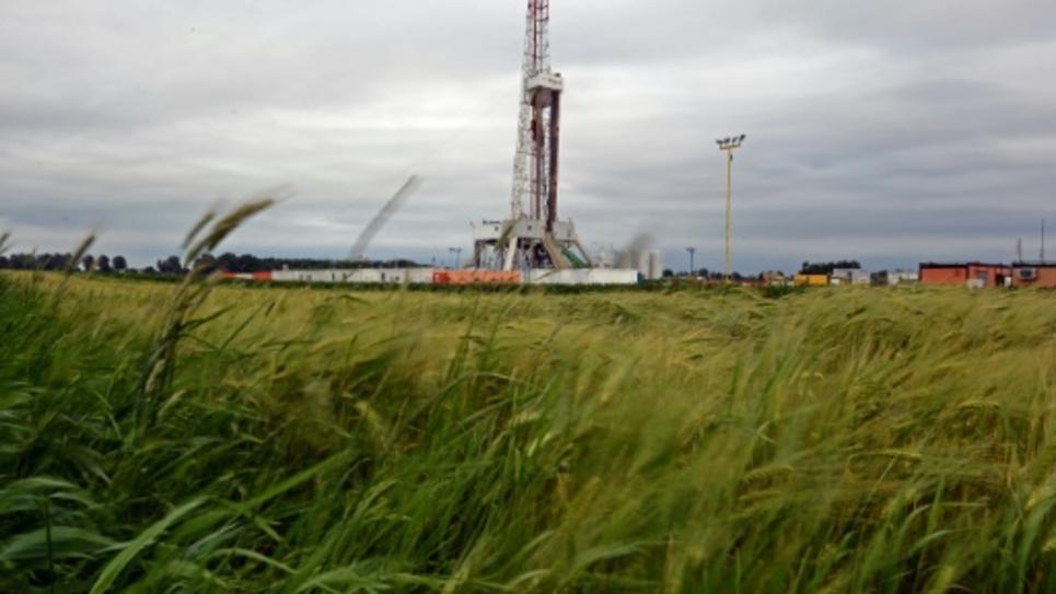 Exploitation de gaz de schiste par la compagnie Chevron dans le village de Ksiezomierz en Pologne le 11 juin 2013