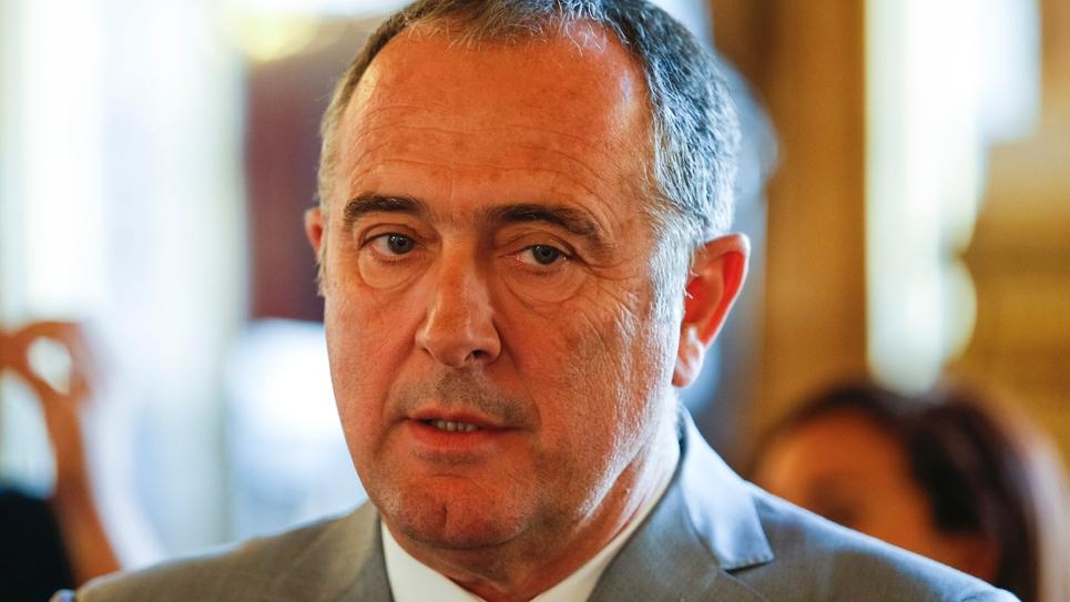 Didier Guillaume, président du groupe socialiste du Sénat, le 24 septembre 2017 à Paris