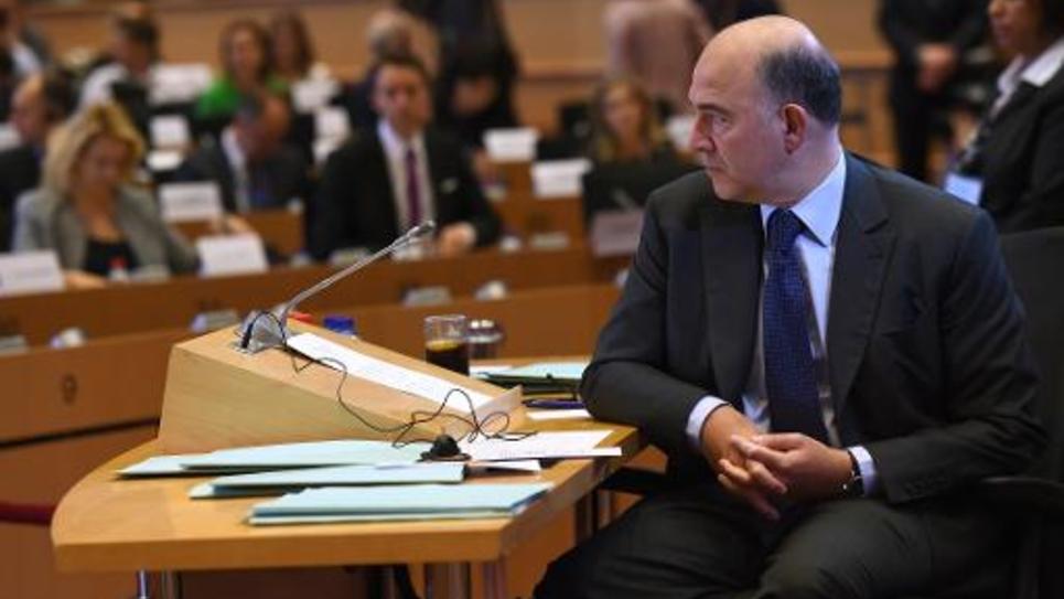 Pierre Moscovici lors de son audition par les députés européens le 2 octobre 2014 à Bruxelles