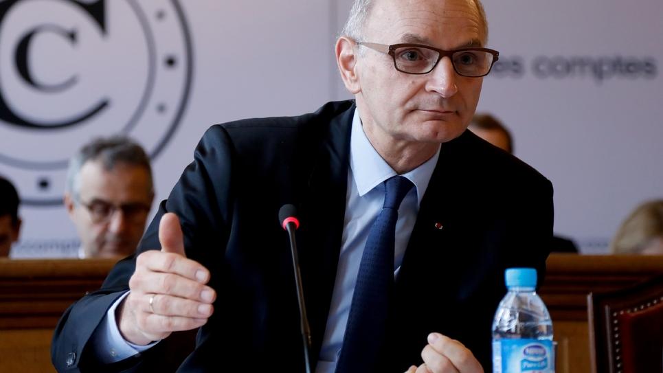 Didier Migaud, premier président de la Cour des comptes, en conférence de presse à Paris, le 8 février 2017