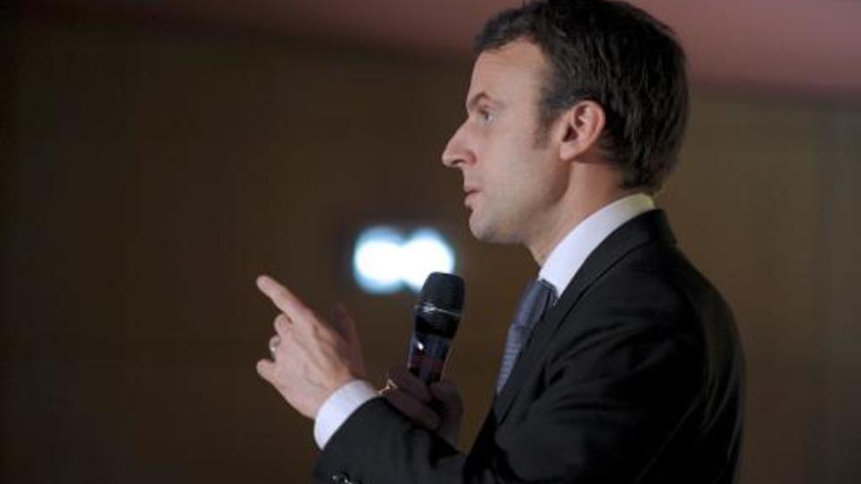 Le ministre de l'Economie Emmanuel Macron à Maisons-Alfort près de Paris, le 5 mars 2015