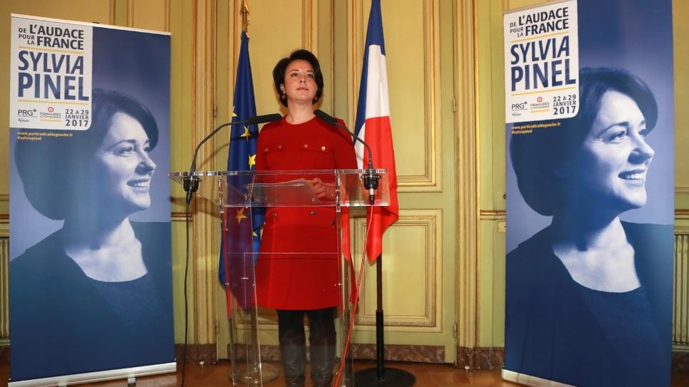 Sylvia Pinel, le 5 janvier 2017 à Paris, lors de la présentation de son programme.
