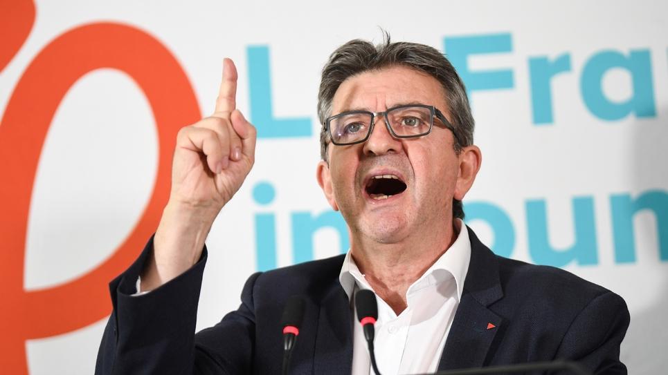 """Jean-Luc Mélenchon, leader du parti d'extrême-gauche """"La France Insoumise"""", à Paris le 19 octobre 2018"""