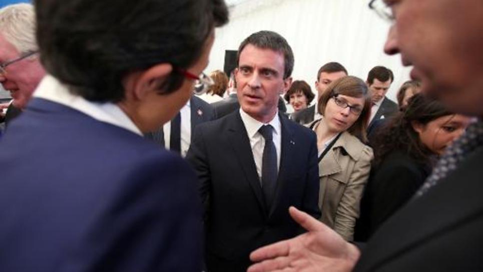 Le Premier ministre Manuel Valls, le 23 avril 2015 à Dublin