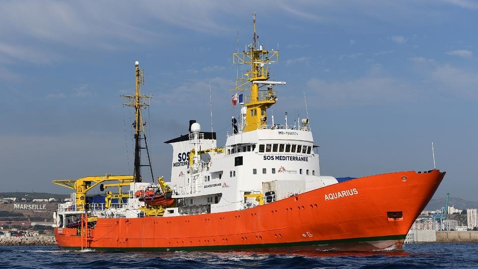Le navire humanitaire Aquarius, le 29 juin 2018 à Marseille