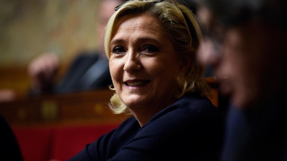 La présidente du Rassemblement national Marine Le Pen à l'Assemblée nationale, le 14 novembre 2018