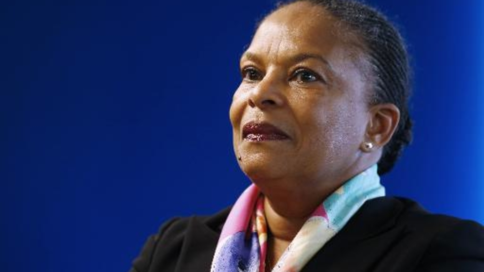 La ministre de la Justice Christiane Taubira à Paris, le 6 mai 2015