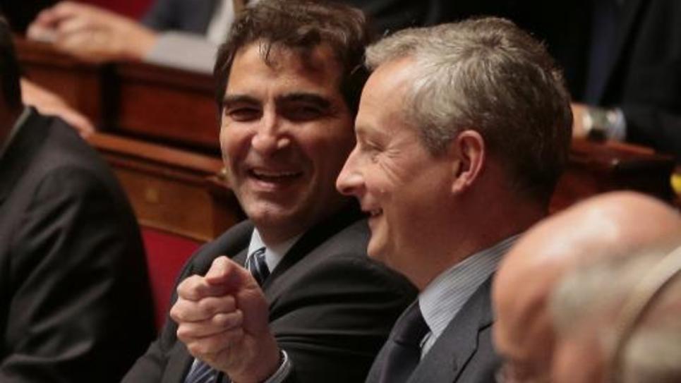 L'ex-ministre UMP Bruno Le Maire (au premier plan), le 3 mars 2015 à l'Assemblée nationale, à Paris