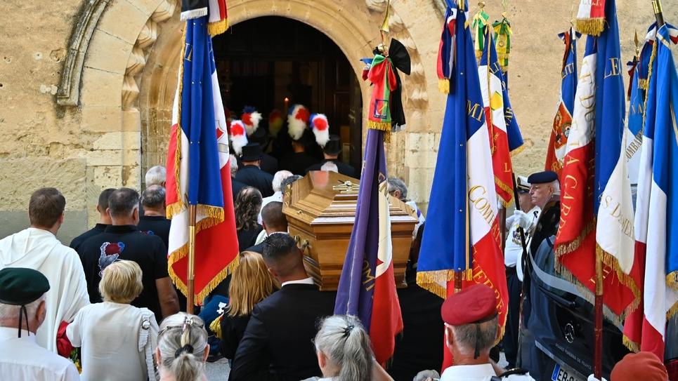 Funérailles du maire de Signes (Var), Jean-Mathieu Michel, le 9 août 2019