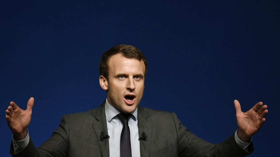 Le candidat à la présidentielle, Emmanuel Macron, le 6 janvier 2017 à Nevers