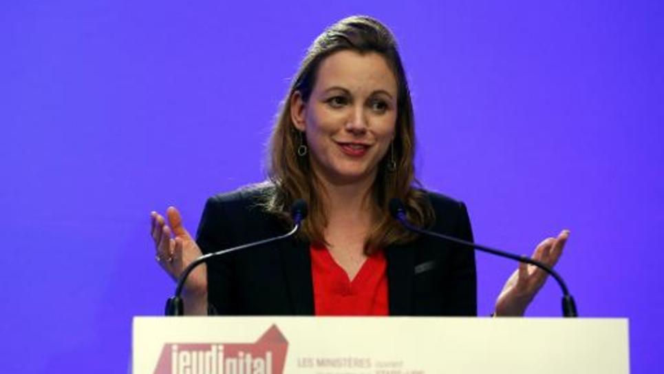 La secrétaire d'Etat chargée du Numérique, Axelle Lemaire, le 20 novembre 2014 à Matignon, à Paris