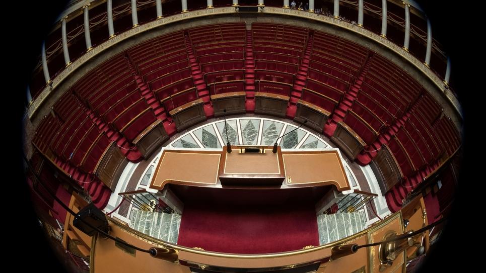 L'Assemblée nationale photographiée le 16 octobre 2017