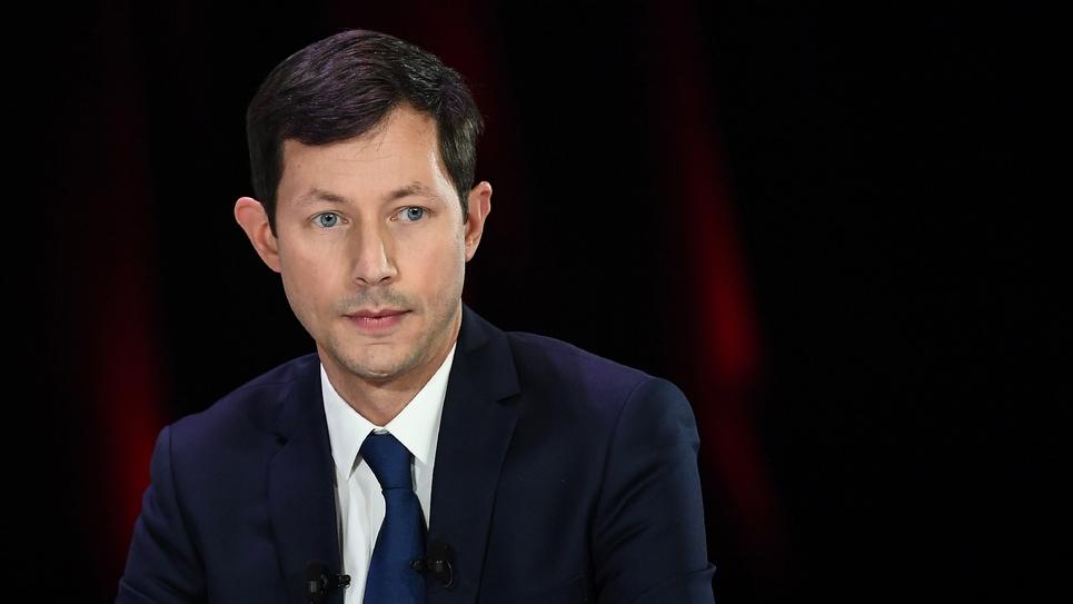 François-Xavier Bellamy, tête de liste LR aux élections européennes, le 11 avril 2019 à Paris