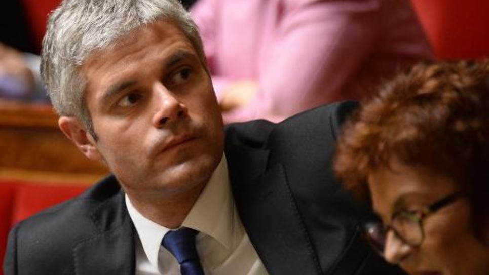 Le député UMP Laurent Wauquiez, le 3 février 2015 à l'Assemblée nationale à Paris