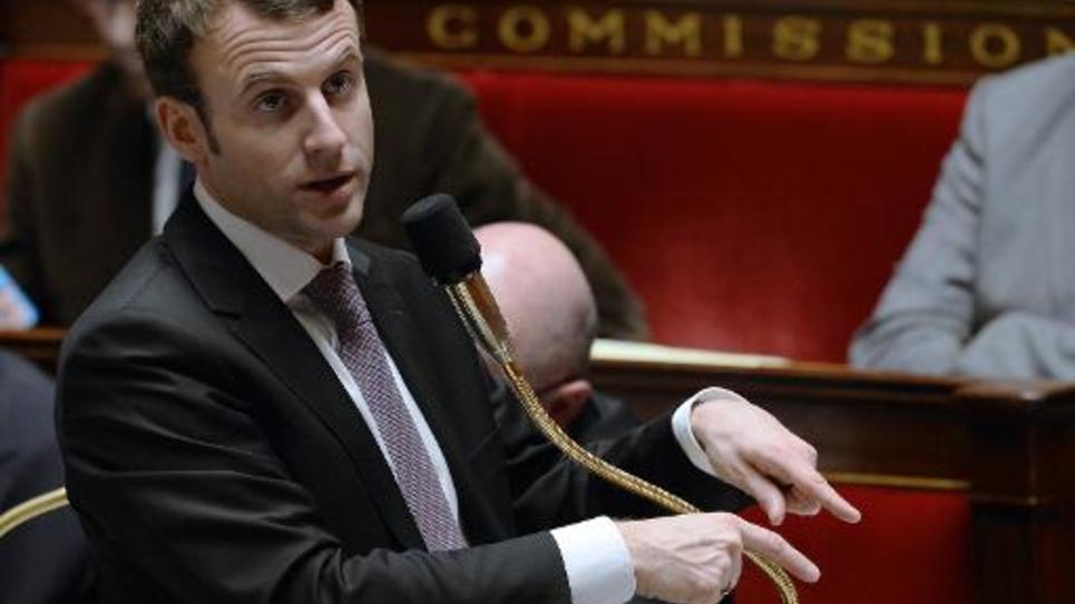 Le ministre de l'Economie Emmanuel Macron à l'Assemblée nationale le 14 février 2015