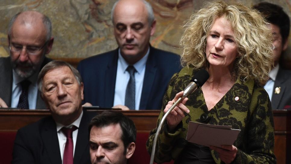 La députée LREM Martine Wonner, à l'Assemblée nationale, le 14 novembre 2017