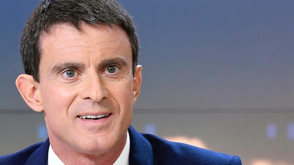 L'ancien Premier ministre Manuel Valls sur le plateau de France 2 à Issy-Les-Moulineaux, le 6 décembre 2016