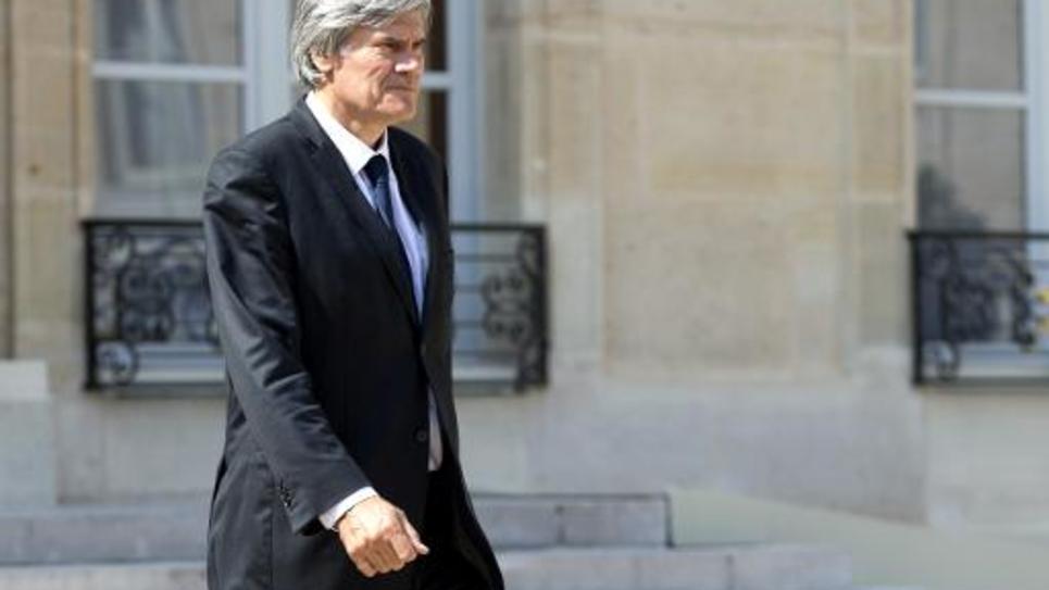 Le ministre français de l'Agriculture, Stéphane Le Foll, le 30 juillet 2014 à l'Elysée, à Paris