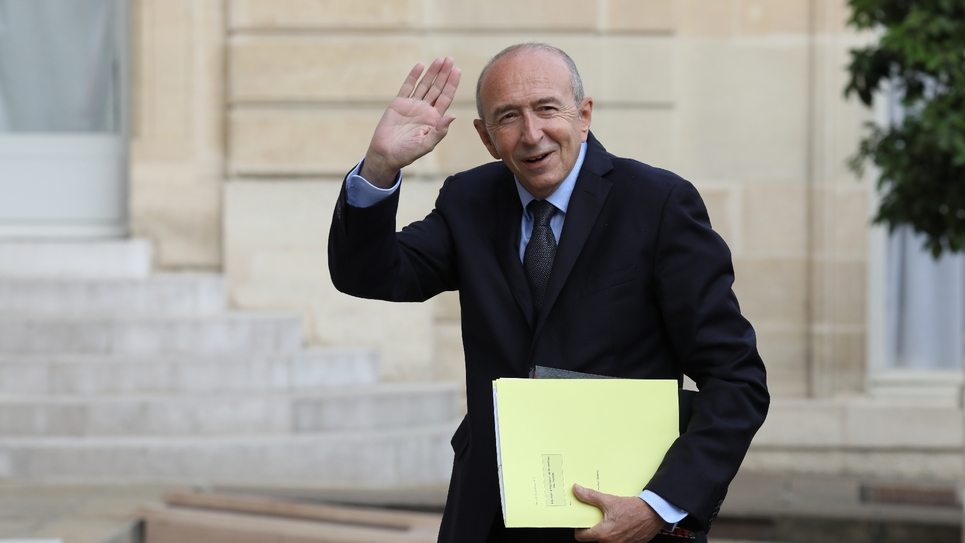 Le ministre de l'Intérieur Gérard Collomb arrive le 5 septembre 2017 au palais de l'Élysée