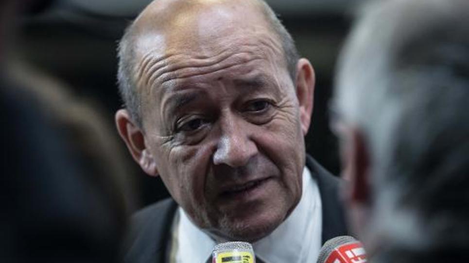 Le ministre français de la Défense Jean-Yves Le Drian à Washington le 2 octobre 2014