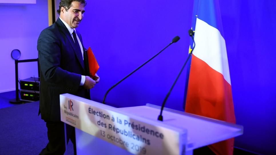 Le nouveau président des Républicains, Christian Jacob, le 13 octobre 2019 à Paris