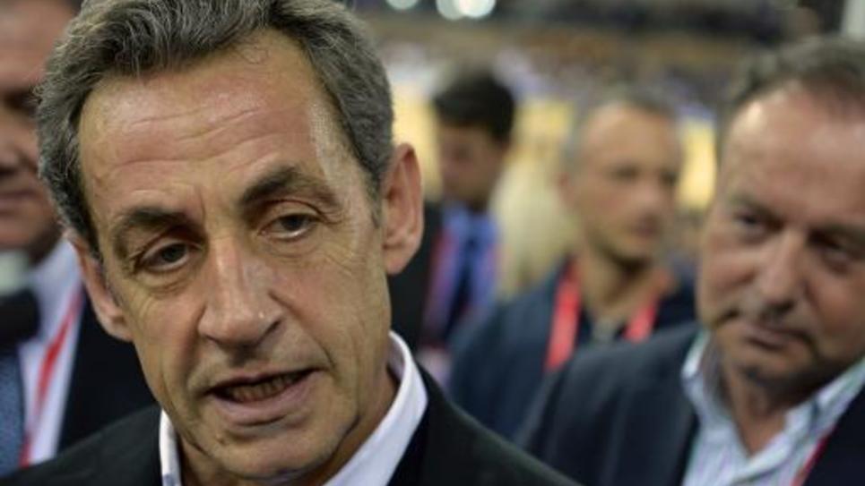 Nicolas Sarkozy, photographié le 22 février 2015