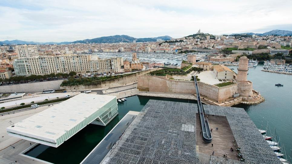 Vue du vieux port de Marseille, le 15 novembre 2019