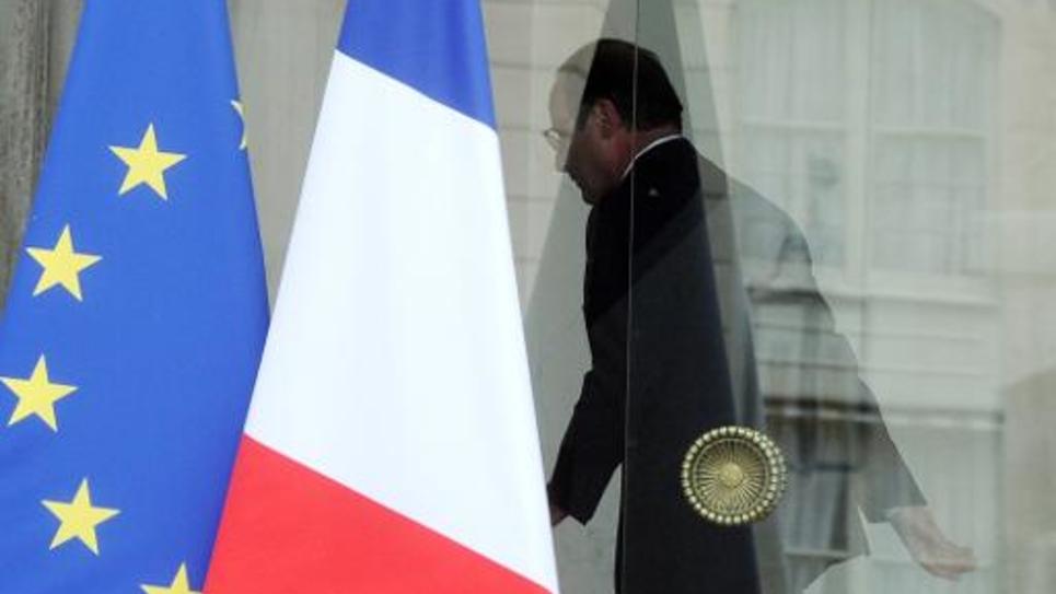 François Hollande au Palais de l'Elysée le 1er août 2014