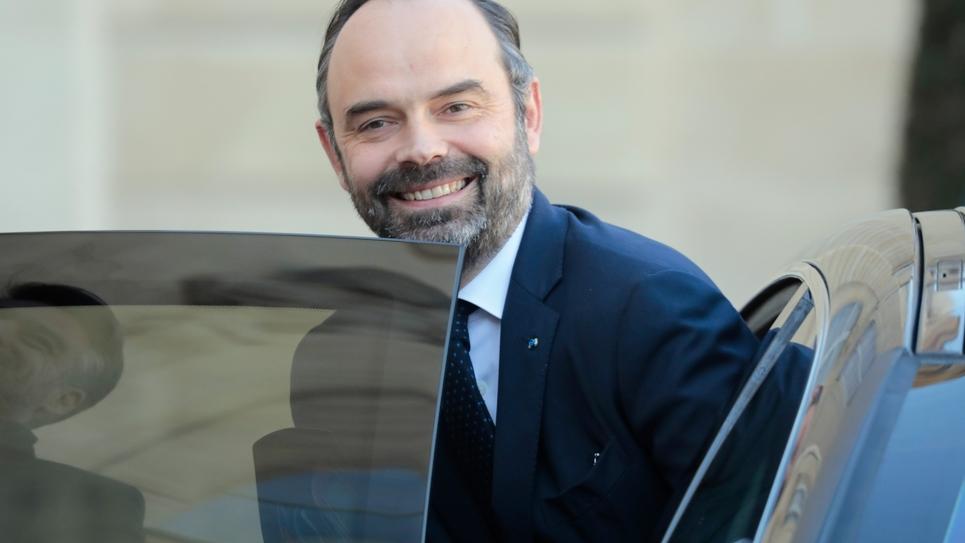 Le Premier ministre Edouard Philippe, le 13 février 2019 à l'Elysée, à Paris