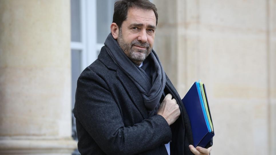 Le ministre de l'Intérieur Christophe Castaner, au sortir du Palais de l'Elysée le 30 janvier 2019