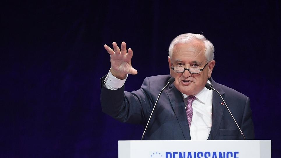 Jean-Pierre Raffarin au meeting de La République en Marche, le 11 mai 2019 à Strasbourg