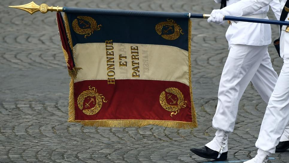 Des militaires défilent sur les Champs-Elysées, le 14 juillet 2019 à Paris