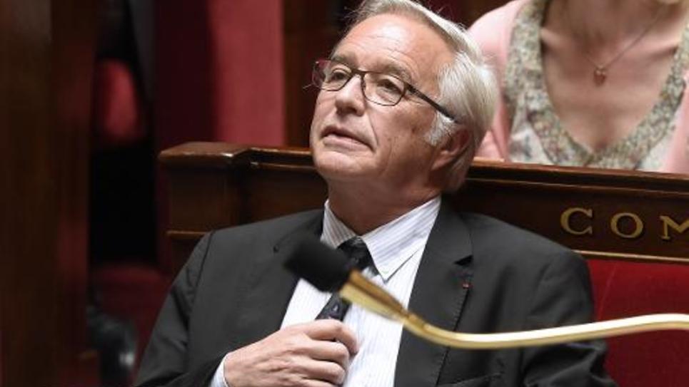 Le ministre du Travail François Rebsamen à l'Assemblée nationale à Paris, le 12 mai 2015