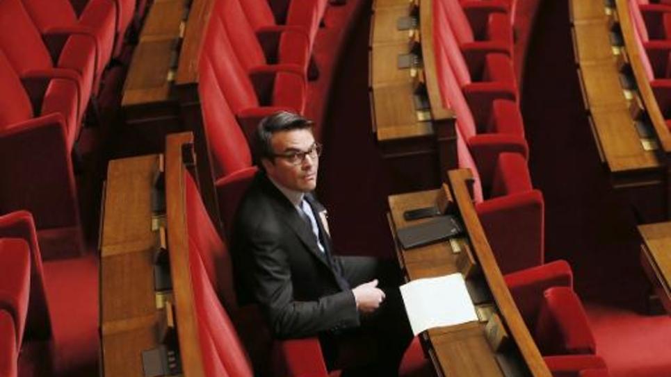 L'ex-secrétaire d'Etat Thomas Thévenoud à l'Assemblée nationale le 28 novembre 2014