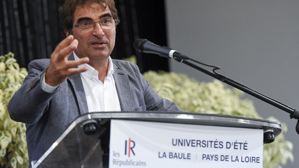 Christian Jacob candidat à la présidence du parti Les Républicains lors de l'université du parti à La Baule, le 31 août
