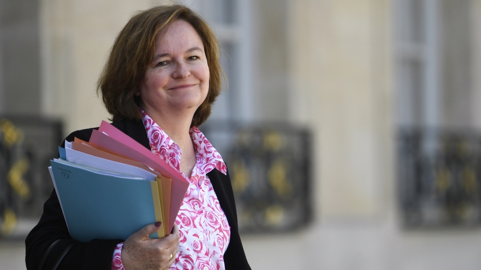 La ministre chargée des Affaires européennes Nathalie Loiseau le 27 avril 2018 à Paris