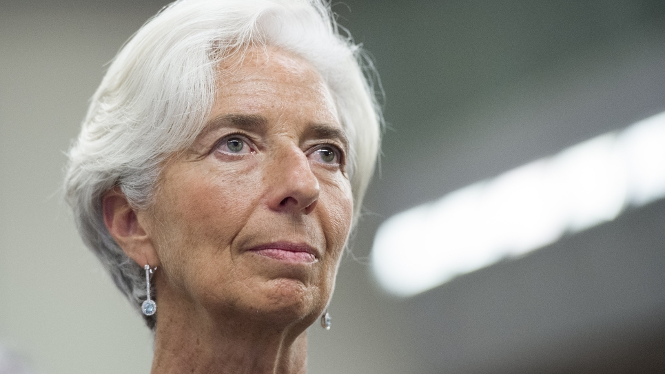 La directrice générale du FMI Christine Lagarde, le 3 novembre 2016 à Washington