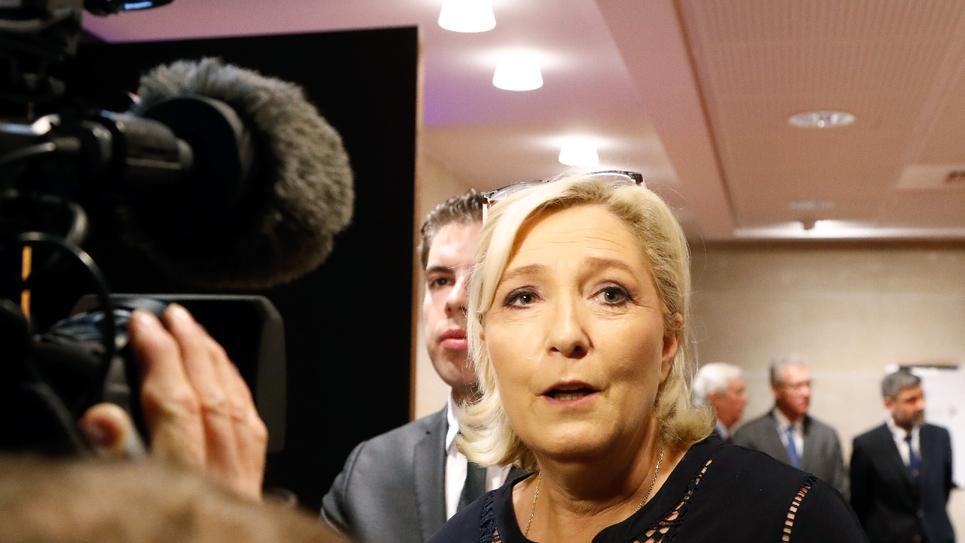 Marine Le Pen le 23 juillet 2018 à Paris