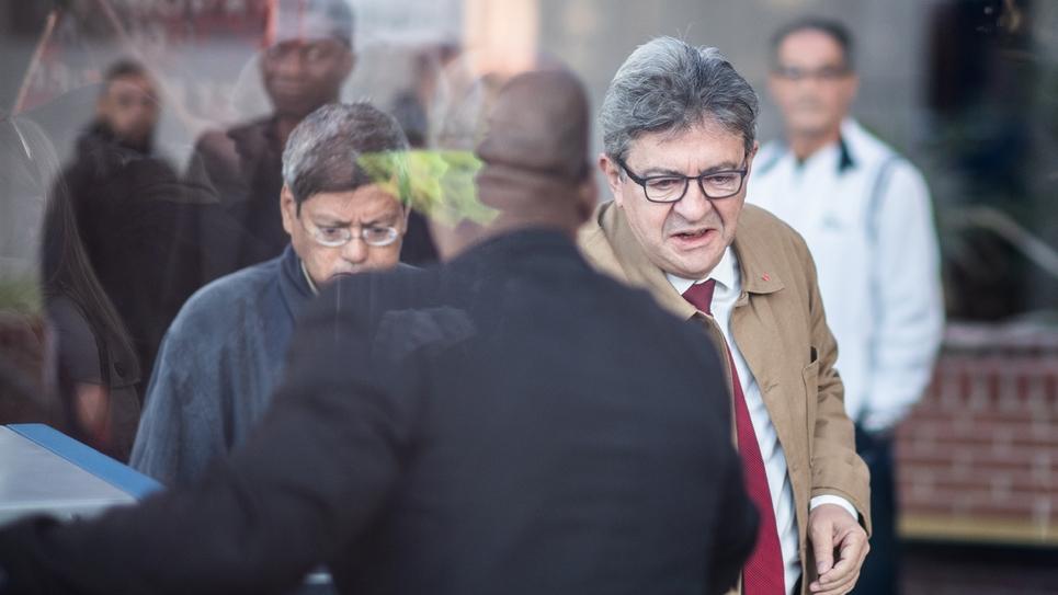 Arrivée de Jean-Luc Mélenchon le 20 septembre 2019 au tribunal correctionnel de Bobigny