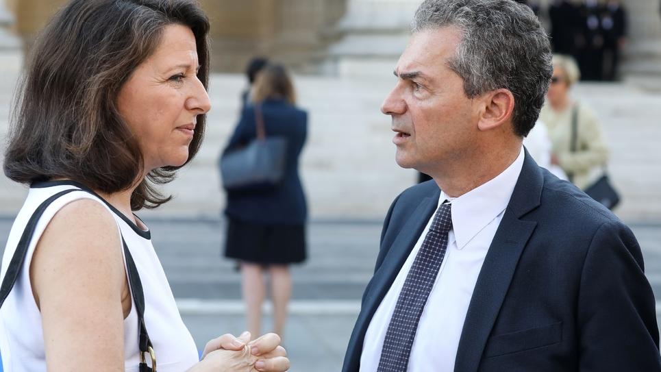 Agnés Buzyn et son époux Yves Lévy, qui a retiré sa candidature pour un nouveau mandat à la tête de l'Inserm, le 1er juillet 2018.